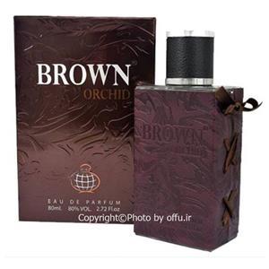 0efc46bc9 ادوپرفیوم مردانه فرگرانس برون ارکید حجم 80میلی لیتر Fragrance World Brown  Orchid Eau De Parfum for men 80ml