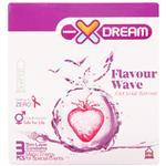 کاندوم ایکس دریم میوه ای Xdream Flavour Wave بسته 3 عددی
