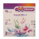 کاندوم لذت های گوناگون ایکس دریم XDREAM TRAVEL MIXED بسته 3 عددی