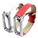 بند مچ بند هوشمند شیائومی مدل Mi Band 2 Metal Leather
