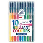 ماژیک 10 رنگ استدلر مدل Triplus Brilliant Colours