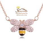 گردنبندگالری شمرون زنبور رزگلد NEC369R0 GUCCI