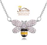 گردنبندگالری شمرون زنبور سیلور NEC368S0 GUCCI