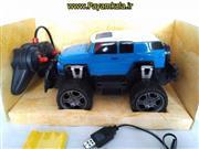 (چهارکاناله) ماشین کنترلی FJ CRUISER شارژی آفرود بزرگ مقیاس 1:16 رنگ آبی