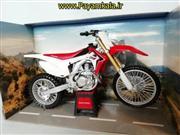 (سایز بزرگ) ماکت فلزی موتورسیکلت هوندا (HONDA CRF 450R)(1/12)