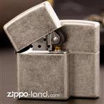 فندک زیپو اصل کد 121FB  Original Zippo Lighter Classic Antique Silver Plate