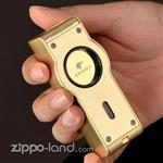 فندک گازی کوهیبا کد ۴۴ رنگ طلایی – رومیزی  Cohiba Butane Lighter Gold Brushed
