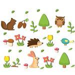 استیکر چوبی ژیوار طرح Spring Animal