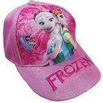 کلاه کپ دخترانه طرح فروزن کد 1318