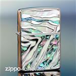 فندک زیپو اصل با صدف طبیعی روی بدنه طراحی ژاپن  Japan Design Zippo Lighter Zebra Print – BLU ZB