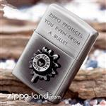 فندک زیپو اصل مدل گلوله با بدنه کروم آنتیک تولید محدود طراحی ژاپن  Japan Design Zippo Lighter Bullet NB BU-700