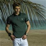 تی شرت مردانه راه راه  ( نخ پنبه-پارچه ترک ) POLO