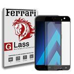 محافظ صفحه نمایش شیشه ای 5D فراری مدل Full Adhesive مناسب برای گوشی سامسونگ Galaxy A7 2017