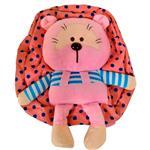 کیف عروسکی مهدکودک مدل خرس گرد صورتی
