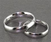 انگشتر نقره ست حلقه ازدواج رینگی روکش پلاتین _کد:15836