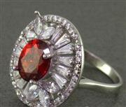 انگشتر یاقوت سرخ رودیوم زنانه درشت مدل نیکیتا _کد:15842