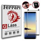 Full Cover and Full Adhesive and nano and camera protector Ferrari Temperd glass Note 8