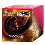 کاندوم بونکس مدل chcolate بسته 12 عددی