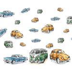 استیکر دیواری سالسو طرح Classic Car h.k