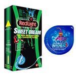 کاندوم نازک مدل بلیسر کدکس به همراه یک بسته کاندوم تاخیری ردلایت مدل Sweet Dream بسته 12 عددی