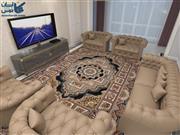 فرش شاهرخ طرح حوض نقره رنگ سورمه ای 1200 شانه