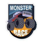 استیکر خودرو طرح Monster Race مدل BSB-00114