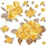 استیکر دیواری صالسو آرت طرح golden rose h.k