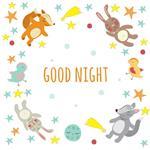استیکر دیواری صالسو آرت طرح good night a.z
