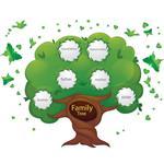 استیکر دیواری صالسو آرت طرح family tree a.z