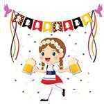 استیکر دیواری صالسو آرت طرح girl party az