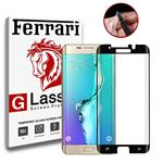 Full Cover and Full Adhesive 6D Dual and nano protector Ferrari Temperd Glass Samsung Galaxy S7 edge