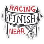 استیکر مدل BSB-00307 طرح Finish Racing