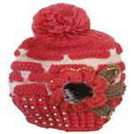 کلاه بافتنی دخترانه طرح 1