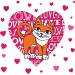 استیکر دیواری صالسو آرت طرح orange cat hk