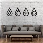 تابلو مینیمال رومادون طرح چهار عنصر کد 1300