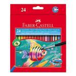 مداد آبرنگی جعبه مقوایی طرح ماهی 24 رنگ فابر کاستل