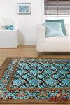 فرش ماشینی عرش طرح برزین فندقی آبی
