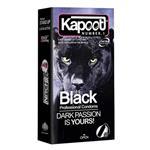 کاندوم لاتکس مشکی کاپوت Kapoot Black passion