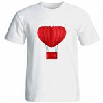 تیشرت آستین کوتاه زنانه شین دیزاین طرح بالون عشق کد 4626