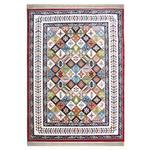 فرش ماشینی آسایش کد 6042 زمینه لاکی