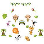 استیکر چوبی ژیوار طرح جنگل آمازون