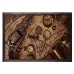 تابلو چوب آتینو مدل Antique map
