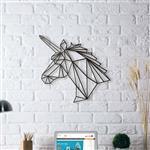 تابلو مینیمال رومادون طرح اسب تک شاخ کد 1448