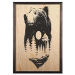تابلو چوب آتینو مدل خرس