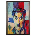 تابلو چوب آتینو مدل Charlie Chaplin