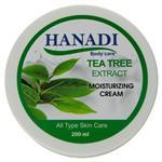 کرم مرطوب کننده و نرم کننده هانادی حاوی عصاره چای سبز حجم 200 میل
