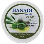 کرم مرطوب کننده هانادی مدل Olive Oil حجم 200 میلی لیتر