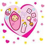 استیکر دیواری صالسو آرت طرح baby love pink hk