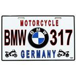 پلاک موتور سیکلت مدل BMW