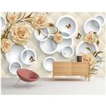 کاغذ دیواری صالسو آرت طرح A - golden flowers 267